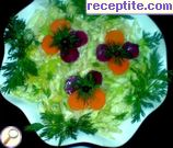 Salad of carrots and Chinese cabbage with dressing