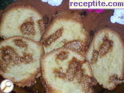 Sponge cake with rolled in sesame