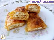 Banitsa in rolls of sheet sach
