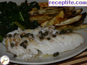 Plaice pan with capers