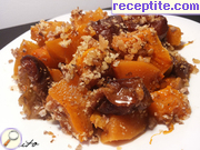 Roasted pumpkin compote of prunes