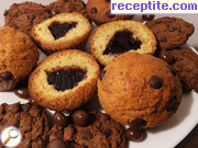 Muffins with chocolate - III type