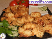 Fried cauliflower with beer