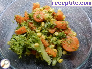 Turkish salad with broccoli
