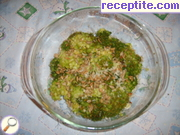 Broccoli with Romano and sunflower microwave
