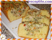 Savory sponge cake with filling