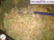 Salad of cabbage and carrots with mayonnaise