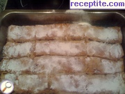 Strudel pastry with apples and cinnamon
