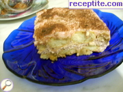 Layered cake with cream of cottage cheese and creamer