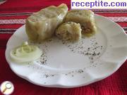 Dolmas with minced meat turkey (chicken) meat in the oven