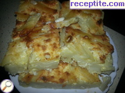 Pasta with feta cheese and sugar in the oven