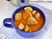 Тиквена крем-супа с топчета