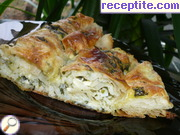 Pulling banitsa with spinach and rice (kind Zelnik)