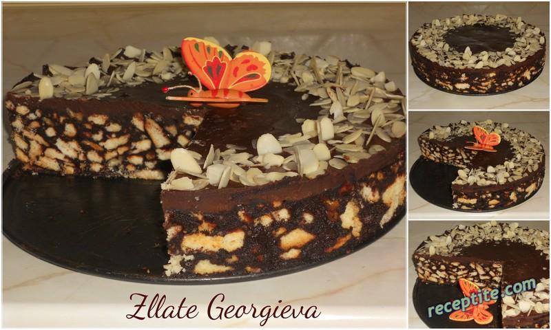 Снимки към Шоколадово-бисквитена торта