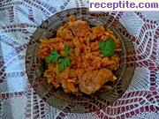 снимка 4 към рецепта Свинско месо с прясно зеле