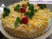 снимка 2 към рецепта Салата с яйца и картофи - редена